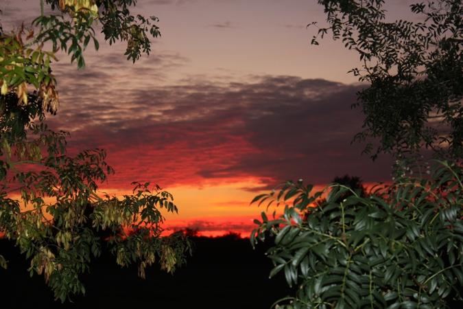 Coucher de soleil au Domaine des Rousselières