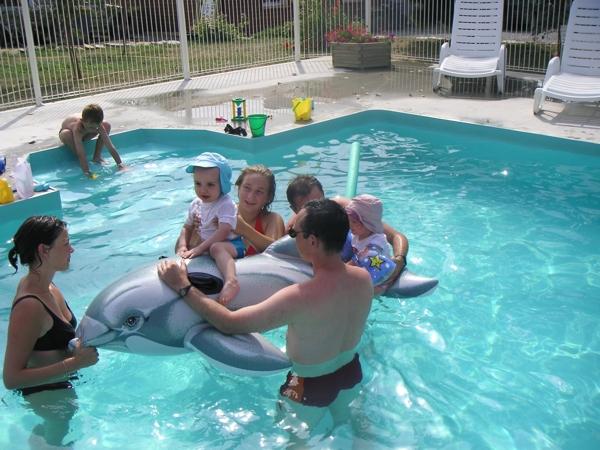 La piscine chauffée pour toute la famille