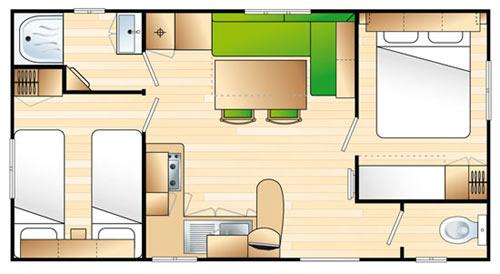 Plan du mobil home grand confort