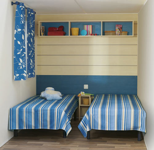 Mobil home chambre des enfants